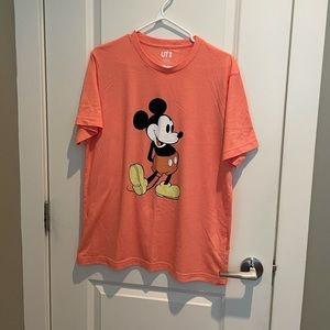 Uniqlo Disney Peach Mickey Mouse Classic T-Shirt